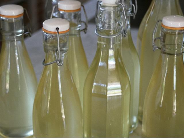 Вино из крыжовника разлитое по бутылкам