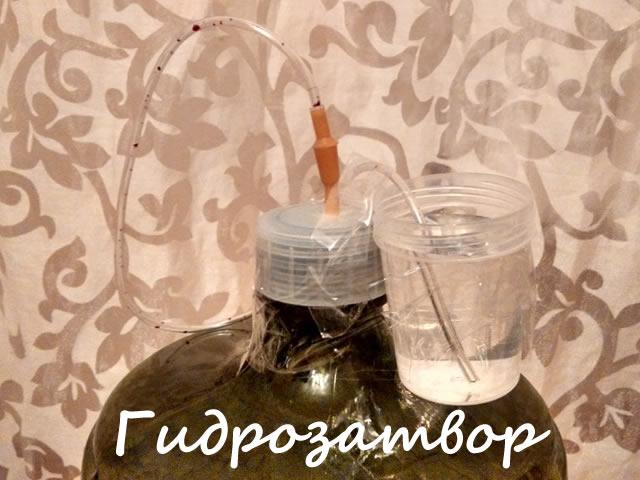 Гидрозатвор для приготовления вина